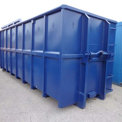 Hüffermann Abrollcontainer blau