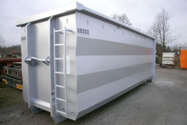 Hüffermann Abrollcontainer silber