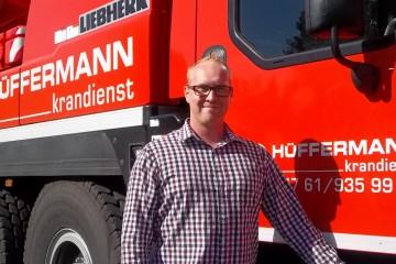 Simon Schütte Mitarbeiter Hüffermann Krandienst