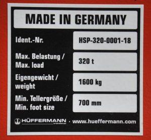 Abstützplatten-Krandienst-Hüffermann-Kranzubehör