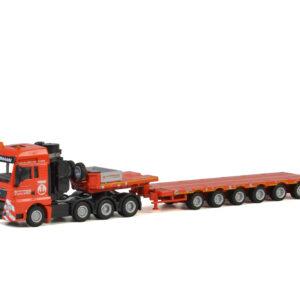 Modell Hüffermann 1:87MAN TGX XXL 6x4 Semitieflader 6-Achs von WSI