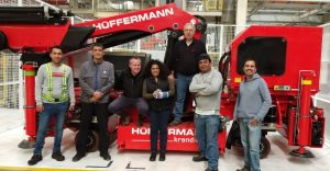 Export Elektrokranmobil, Sondermontagekran, VW Mexiko von Hüffermann