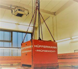 Schwerlastprüfgewichte leihen von Hüffermann