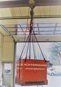 Belastungsversuche, Prüfgewichte leihen für Schwerlastprüfungen von Hüffermann