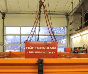 Leihgewichte für Schwerlastpruefungen von Hüffermann bis 300t