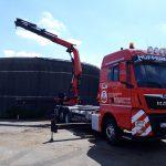Instandsetzung einer Biogasanlage - Ladekranarbeiten von Hüffermann