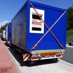 Conatiner Transport - verladen und transportieren mit Ladekran von Hüffermann