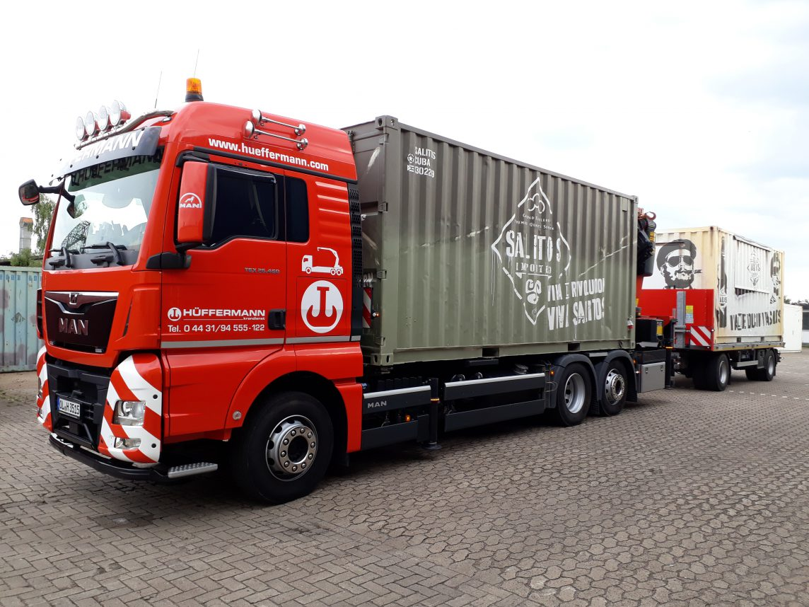 Containertransporte - Containter Logistik - Ladekranarbeiten Hüffermann