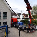 Glasarbeiten - LKW Ladekran für Montage und Transporte mit Hüffermann