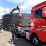 Biogasanlage - Instanhaltungsarbeiten - Ladekran Hüffermann