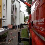 LKW Ladekranarbeiten Hüffermann - Wohnungsbau