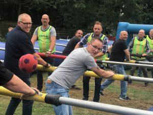 Menschenkicker-Sommerfest von Hüffermann - Team
