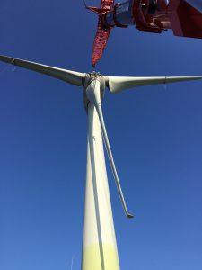 Kranunternehmen - Arbeiten an Windkraftanlage - LTM 1500 Hüffermann