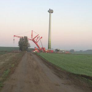 Kranarbeiten - Windpark - Hüffermann LTM 1500