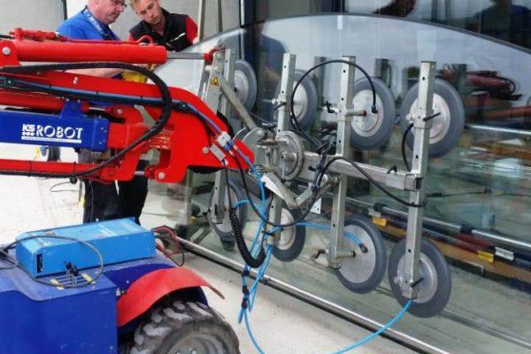 Glasroboter - Glasmontagegerät mieten Hüffermann - Glashebetechnik - Glaslifter