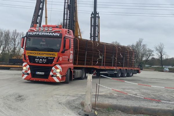 Materialtransport - Sondertransport - Hüffermann - Schwertransport