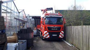 Maschineneinbringung - Montagekolonne Hüffermann - Transport und Kranarbeiten