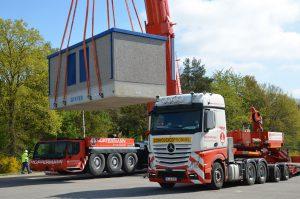 Kranarbeiten + Transporte  Hüffermann - Trafo setzen Ahlhorn