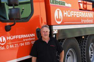 Mitarbeiter Fidi Ehlers - Jubiläum- 45 Jahre im Hüffermann Team