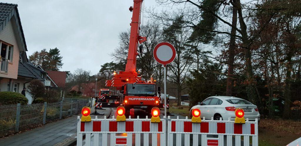 verkehrstechnik Hüffermann - Baustellenabsicherung - Absperrmaterial - Verkehrssicherung