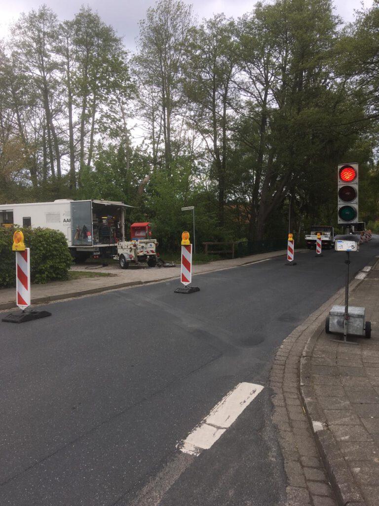 Mobile Ampelanlagen - Verkehslenkende Massnahmen Hüffermann