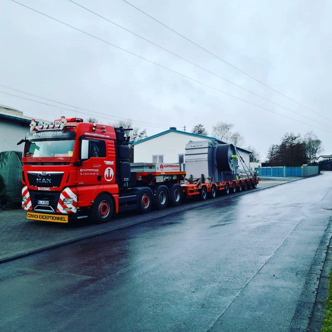 Genehmigungsservice - Begleitfahrzeug - Transport - Hüffermann