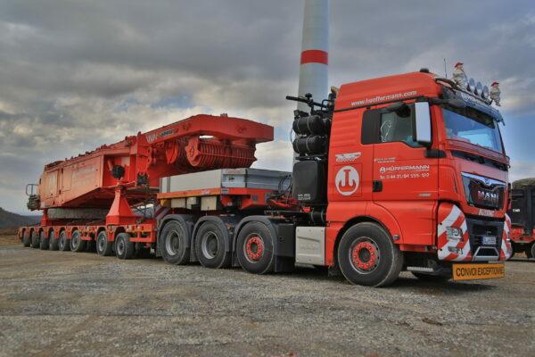 Spedition - Transport - Schwerlasttransporte - Maschinenteile - Hüffermann